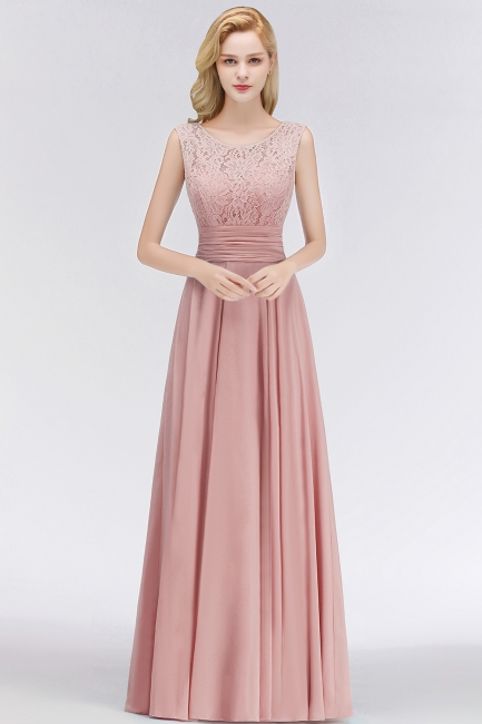 Elegant bridesmaid dresses long dusty pink with lace sheath dresses for bridesmaids