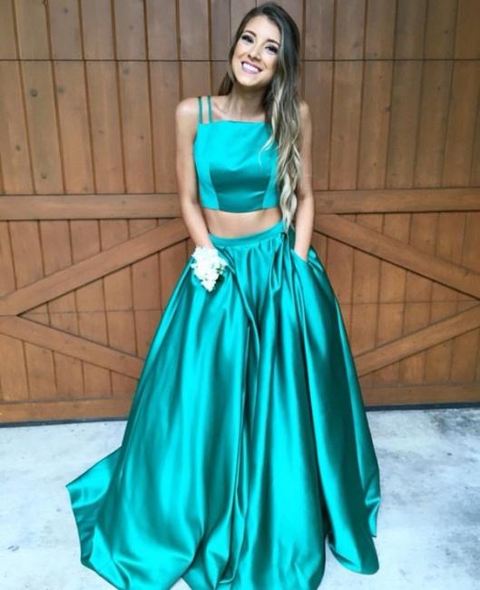 Turquoise 2 divider prom dresses long cheap evening dresses prom dresses