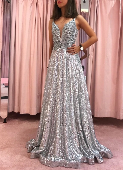 Beautifully Long Evening Dresses With Glitter | Prom dresses online prom dresses