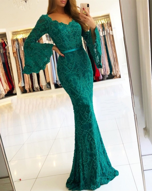 Luxury Evening Dresses Long Cheap Green | Top evening wear online