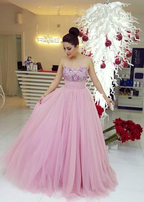 Lilac Abendkleider Lang Tüll Abendmoden Mit Spitze Abschlussballkleider