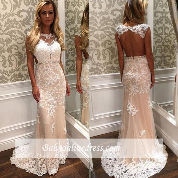 White prom dresses long with lace beaded shift dresses online cheap evening wear