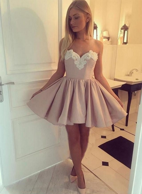 Champagne short cocktail dresses buy cheap a line prom dresses online