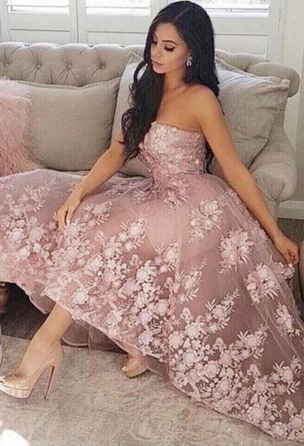 Fashion cococktail dresses lace pink | Short prom dresses prom dresses online
