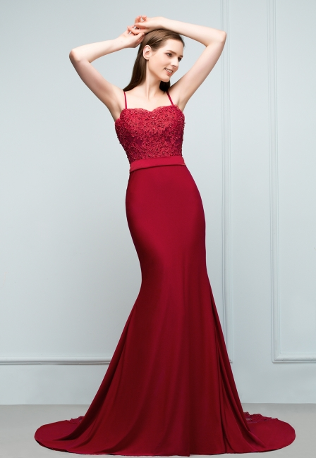 Elegant evening dresses long with lace wine red prom dresses for sale online