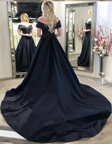 Elegante Abendkleider Lang Schwarz A Linie Abiballkleider Abendmoden Online