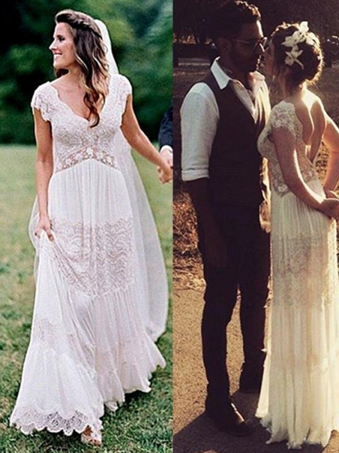 Modern Chiffon Wedding Dresses With Lace Sheath Dresses Wedding Dresses Cheap