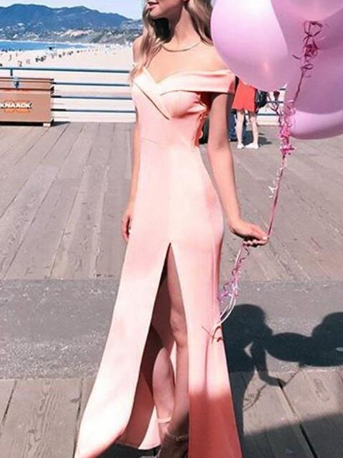 Pink evening dresses cheap sheath dresses satin prom dresses cheap online