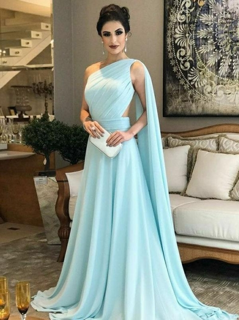 Heller Blau Lang Abendkleider Chiffon Bondenlang Abendmoden Günstig Online