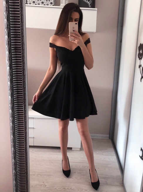 Designer Black Evening Dresses Short | Cocktail dresses mini cheap online