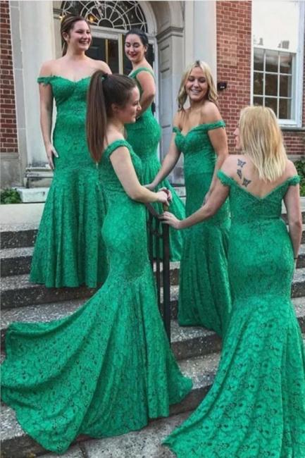 Elegant Bridesmaid Dresses Green Cheap | dresses for bridesmaids lace