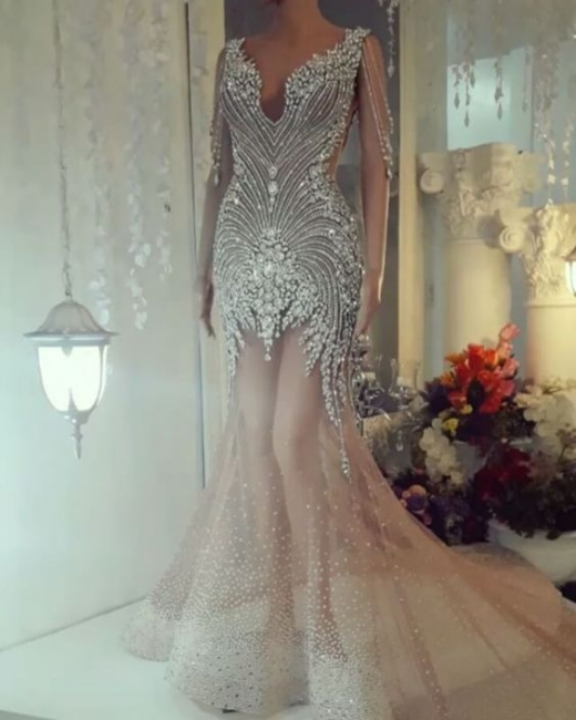 Luxus Abendkleider Lang | Kristal Abiballkleider Online Kaufen