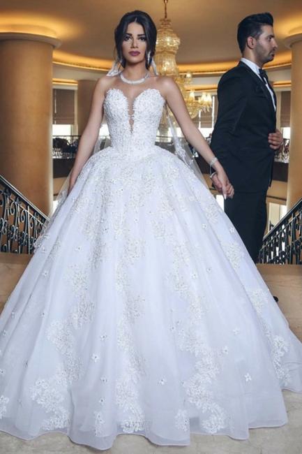 Designer wedding dresses white | Wedding dresses princess online
