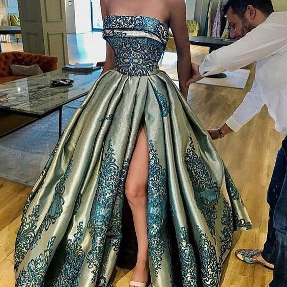 Designer Abendkleider Lang Günstige Online Abiballkleider