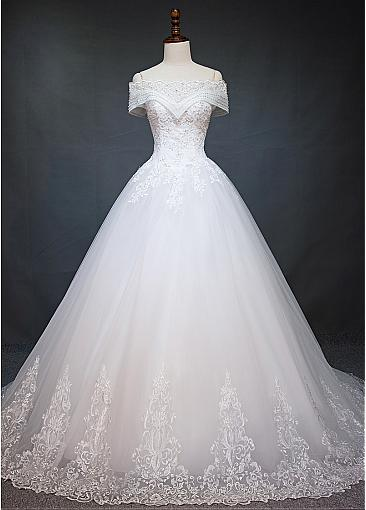 New Wedding Dresses White With Lace A Line Wedding Dress Cheap Online