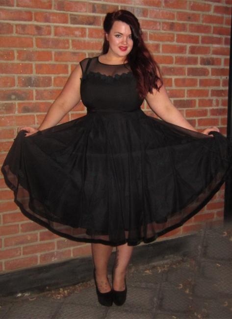 Schwarz Abendkleider Große Größe Kurz Übergröße Abendmoden Abiballkleider