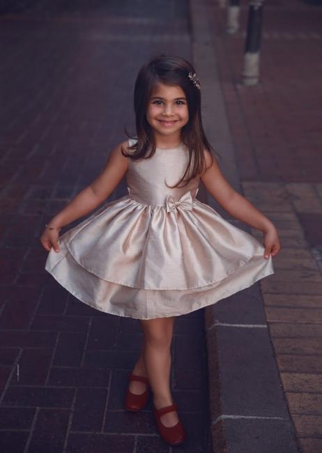 Süß Blumenmädchenkleider Kurz | Kinder Hochzeitskleider Günstig Online