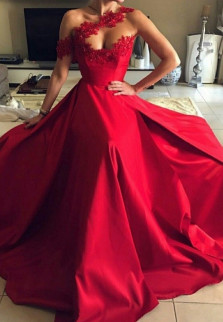 Modern evening dresses long red | Prom dresses evening wear with lace