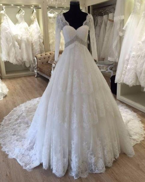 Formal Bruatkleider Spitze Mit Ärmel A Linie Bruatkleid Hochzeitskleider Online