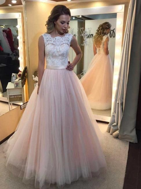 Rosa Hochzeitskleider mit Spitze Günstig Brautkleider Online