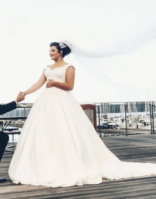 Elegante Hochzeitskleider für Schwangere | Brautkleider Große Größen