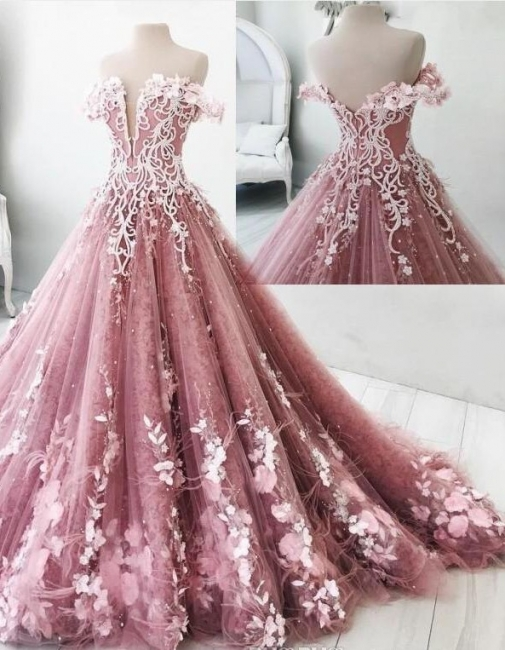 Modern Pink Evening Dresses Princess Feathers Evening Fashions Prom Dresses Cheap