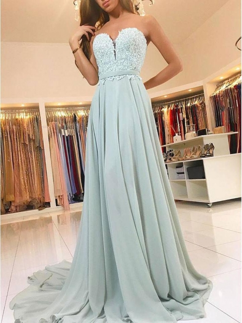 Elegant green evening dress long cheap with lace sheath dresses prom dresses online