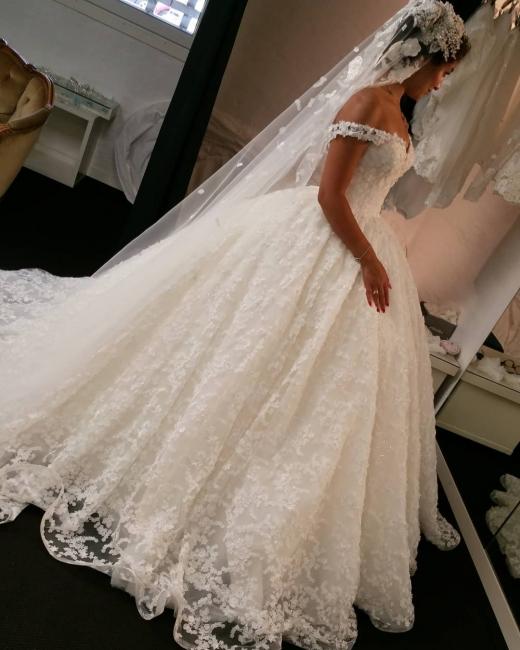 Fashion Spitze Brautkleider Online | Prinzessin Hochzeitskleider Günstig