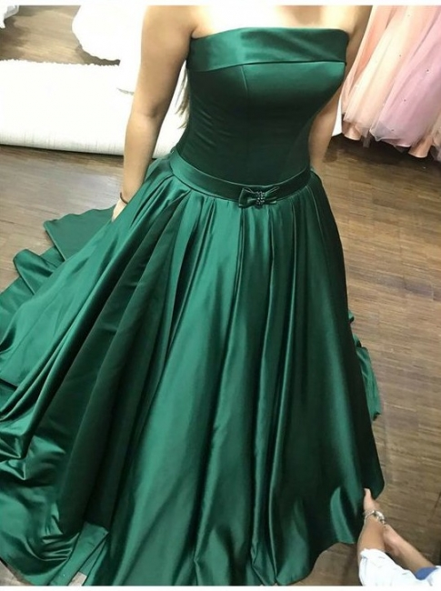 Dark green evening dresses long cheap prom dresses online