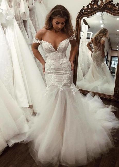 Modern Brautkleid Meerjungfrau Günstig | Hochzeitskleider Mit Spitze