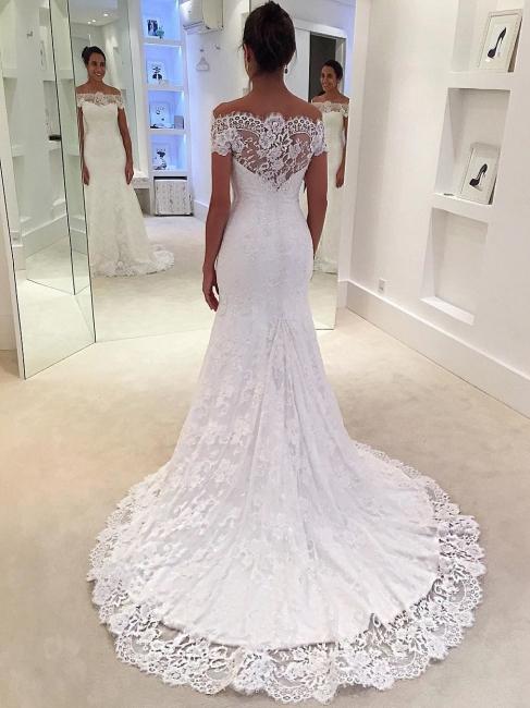 Elegant mermaid wedding dresses | Wedding dresses with lace sleeves