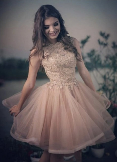 Elegant Cocktail Dresses Short With Lace A Line Prom Dresses Prom Dresses Online