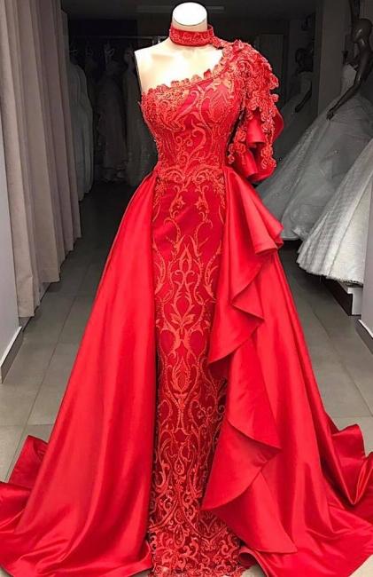 Elegante Rote Abendkleider Lang Günstig | Abendkleid mit Spitze