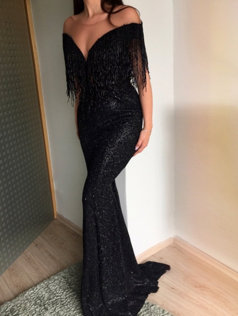 Elegant Black Long Evening Dresses | Prom Dresses Cheap Online