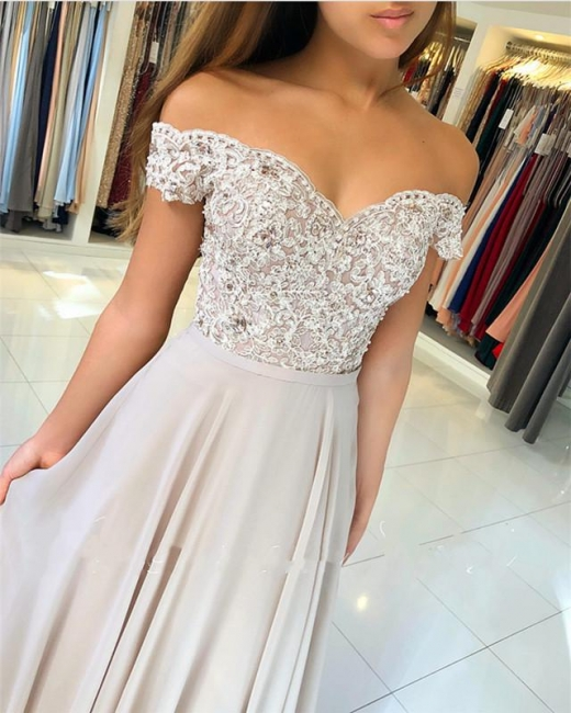 Beautiful evening dresses long cheap with lace chiffon prom dresses cheap for women