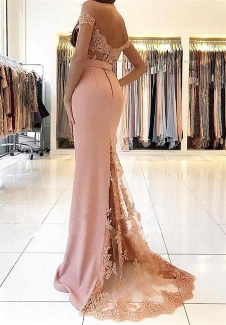 Abendkleid Lang Rosa | Abendkleider mit Spitze Günstig