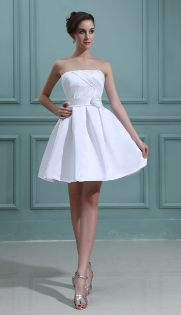 Sweet Wedding Dresses Short White A Line Mini Wedding Dresses Bridal