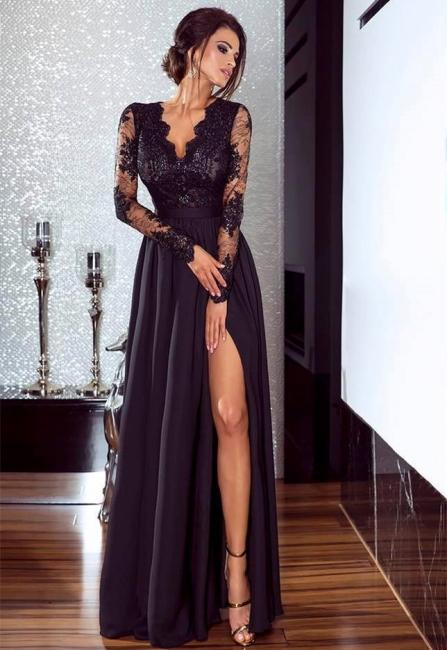 Elegant evening dresses long black with lace sheath dress dresses online