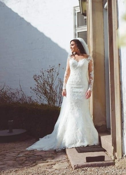 Sexy wedding dresses with sleeves | Mermaid wedding dress lace online