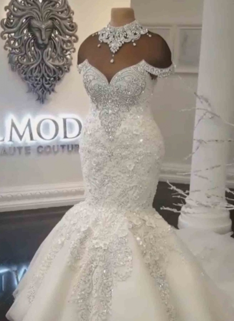 Luxurious  Wedding Dresses Lace | Mermaid Wedding Gowns