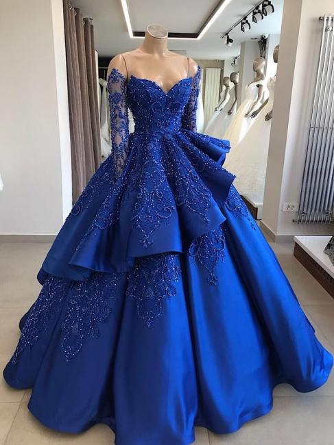 Evening dress blue online | Evening dresses long cheap