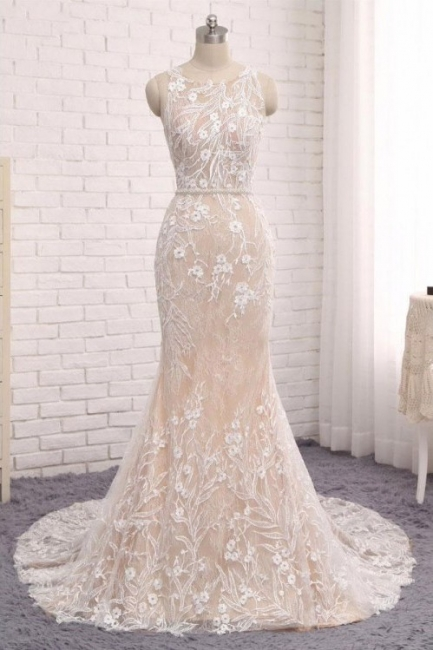 Designer wedding dresses lace | White mermaid wedding dresses online