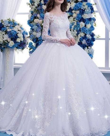 Designer Weiße Hochzeitskleider Mit Ärmel Spitze Brautkleider Online