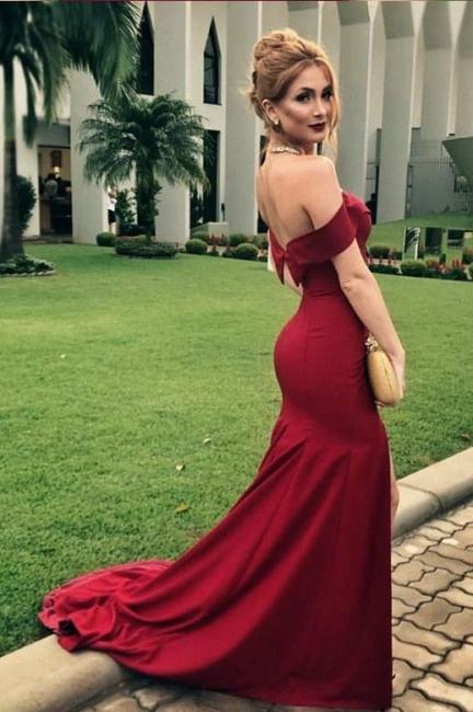 Elegant women evening dresses red long cheap prom dresses online