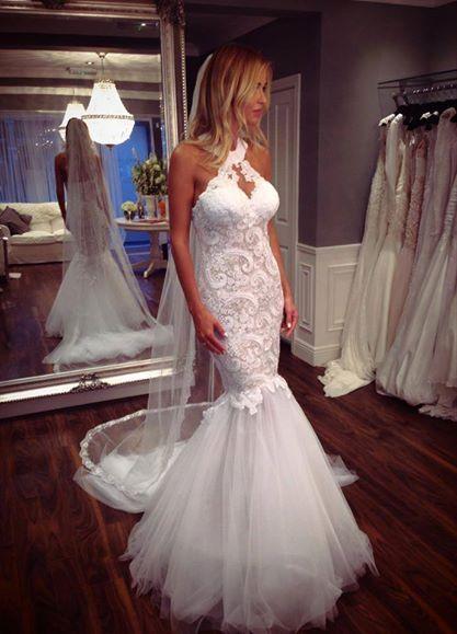Elegant Wedding Dresses Lace White Mermaid Wedding Dresses Wedding Fashions Online