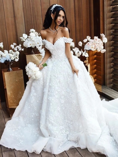 Luxury Wedding Dresses A Line Wedding Gowns Lace Cheap Online