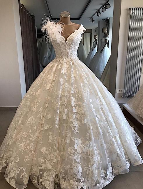 Elegant wedding dresses princess | A Line Wedding Dress Cheap Online