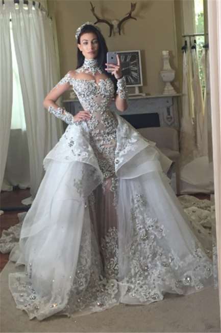 Luxury Wedding Dresses With Sleeves Wedding Dresses A Line Cheap