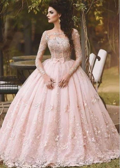 Elegante Abendkleider Lang Rosa | Spitze Abendmoden Bodenlang