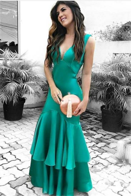 Modern evening dresses long green simple evening wear cheap online